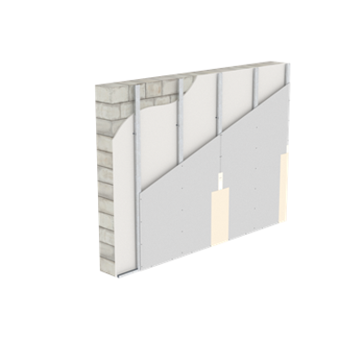 Image for W623.es Shaft wall with CD 60/27, directly attached