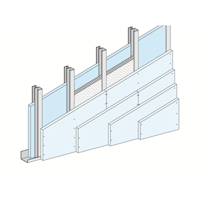 Image for W636.es Shaftwall System - fourth layer cladding
