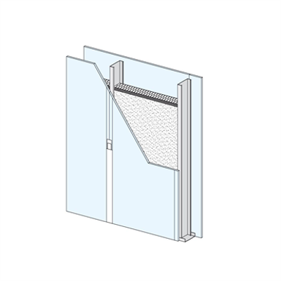 Image for OVERSIZE Single metal stud partition - single metal stud frame, single-layer cladding