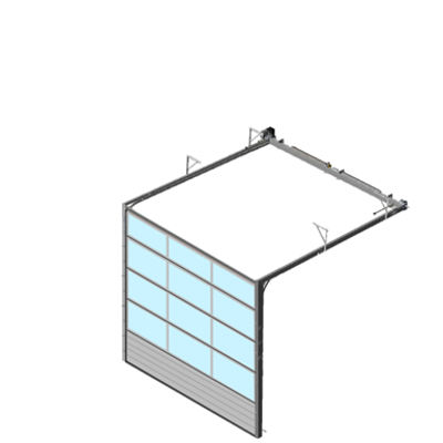 Image for Sectional overhead door 601 - low lift - Full vision panels