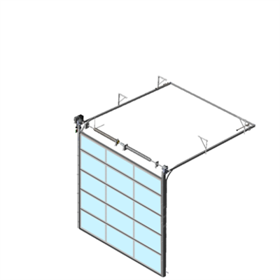 Image pour Sectional overhead door 601 - standard lift - Full vision panels