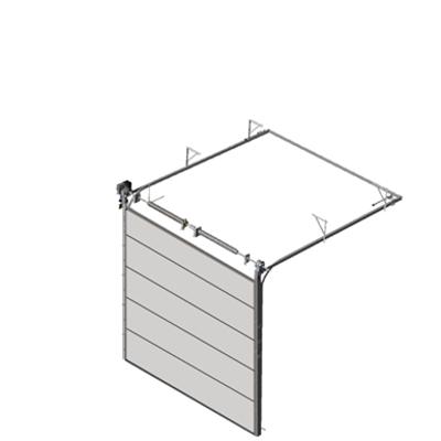 Image pour Sectional overhead door 601 - standard lift - 80mm panels