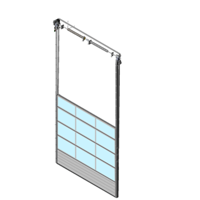 Image pour Sectional overhead door 601 - vertical lift - Full vision panels