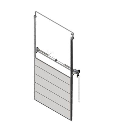 Image pour Sectional overhead door 601 - pre-assembled vertical lift - 40mm panels