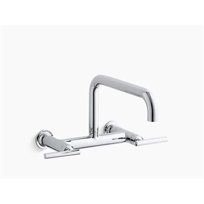 "Image pour Purist®two-hole wall-mount bridge kitchen sink faucet with 13-7/8"" spout"