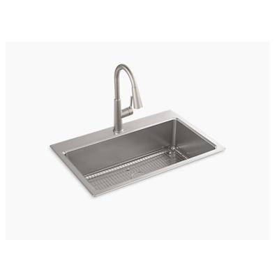 "изображение для Prologue™ 33"" x 22"" x 9"" top-mount/undermount single-bowl kitchen sink kit"