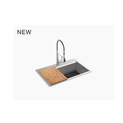 "imagem para Pro-Inspired 33"" x 22"" x 9"" top-mount/undermount single-bowl kitchen sink kit"
