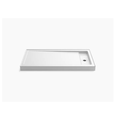 """Image for Bellwether® 60"""" x 34"""" single-threshold shower base with right offset drain"""