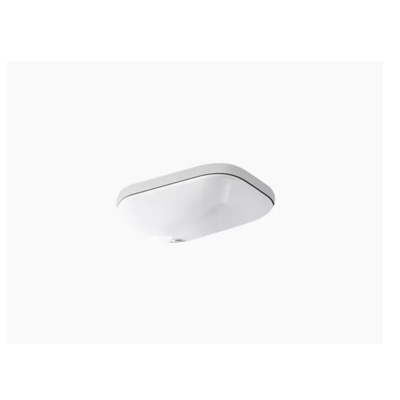 """Image for Tahoe® Undermount bathroom sink with 8"""" oversize centerset faucet holes"""