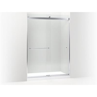 """รูปภาพสำหรับ K-706168 Levity™ sliding shower door, 82"""" H x 56-5/8 - 59-5/8"""" W, with 5/16"""" thick Crystal Clear glass and towel bars"""