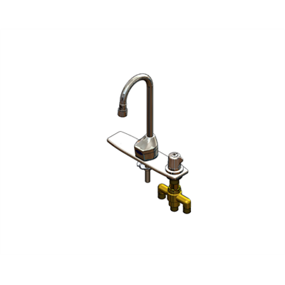 "Image for EC-3100-SMT8V05 ChekPoint Elec Faucet, Deck Mt, GN, Side Mt TMV, 8"" C-C Deck Plate, 0.5 GPM"