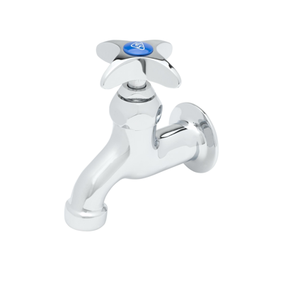 """Image for B-0700 Sill Faucet, 1/2"""" NPT Female Inlet, 4-Arm Handle, Plain Outlet"""