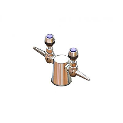 Image for BL-4210-02 Lab Turret, Tapered w/ (2) 180Deg Needle HoseCocks