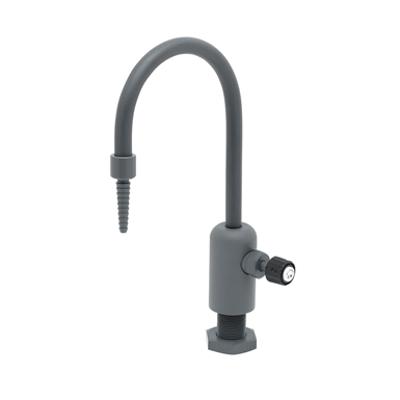 "Image for BL-9505-01 Lab Faucet, Single Control, Grey PVC, Rigid Gooseneck, Serrated Tip, 3/8"" NPT Female Inlet"