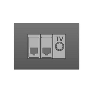 Image for BIMobject TH x Thaiobayashi_TVSocketsetwithTelephoneSocketandLanCableSocket