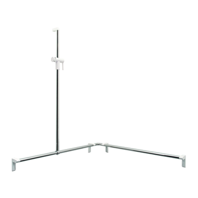 Image for Cavere Chrome Shower handrail with shower head rail, movable 750x750x1200 left