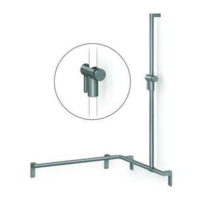 Image for Cavere Shower handrail with shower head rail, movable, 750x750x1200, right