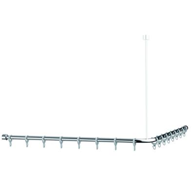 Image for Cavere Chrome Shower curtain rail L = 1400