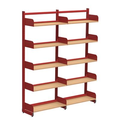 Image for Freestanding shelving system L-frame 1000, wooden shelves on brackets