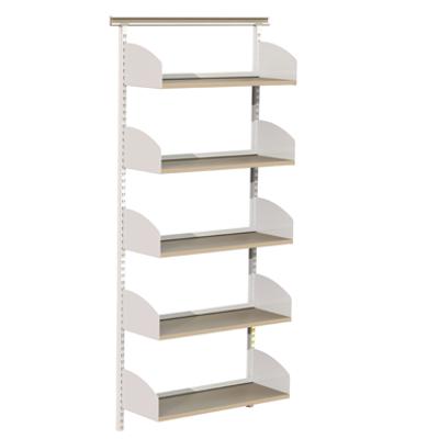 Image for Flexible wallsystem 1000, wooden shelves on shelf ends