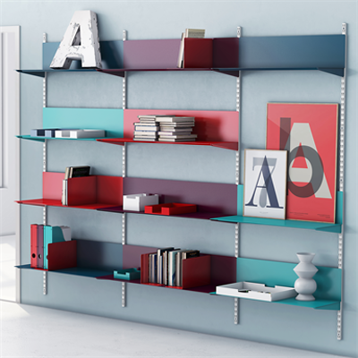 Image for Permanent wall system with metal shelf Paper
