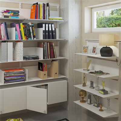 Image for Flexible wall system with metal shelf Paper