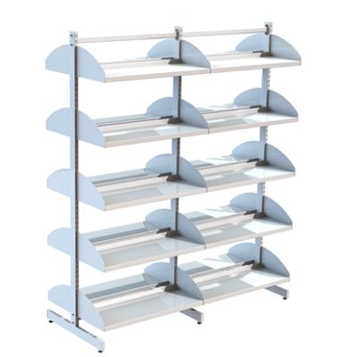 Image for Freestanding shelving system T-frame 800, metal shelves on brackets