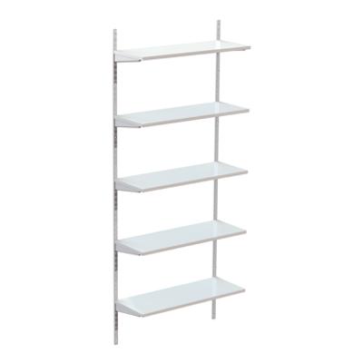 Image for Permanent wallsystem 1000, wooden shelves on shelf ends