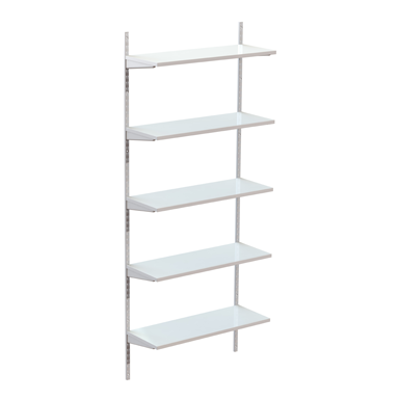 Image for Permanent wallsystem 1000, wooden shelves on brackets