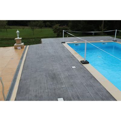 Image for Béton imprimé - Stamped concrete - CHRYSO®DuraPrint - Bois de cèdre