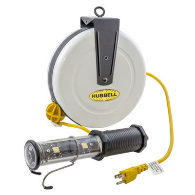 Image for Cord and Cable Reels, Temporary Industrial Lighting Cord Reel with Hand Lamps - HBLC40182LED