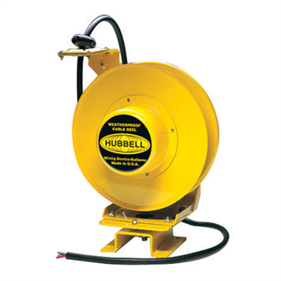 Image for Cord and Cable Reels, Weatherproof Cord Reel, 50', 14/3 SO Cord, Yellow - HBL501431W