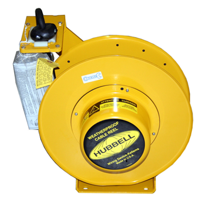 Image for Cord and Cable Reels, Weatherproof Cord Reel, 50', 12/3 SO Cord, Yellow - HBL501232W