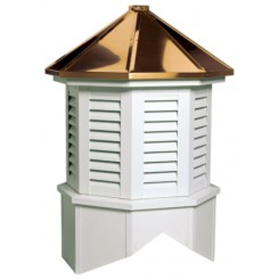 Image for Georgetown Series Louvered Cupola Is An Octagon With A Hip Style Roof