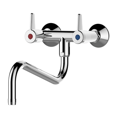 Image for 70806 - PRESTO CHEF Wall-mounted mixer tap with 2 holes – downward spout