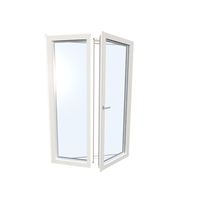 Image for Windowdoor double UPVC-ALU Internorm KF410 5T