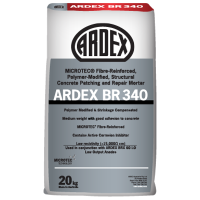 Image for ARDEX BR 340 - MICROTEC® Fibre-Reinforced, Polymer-Modified, Structural Concrete Patching and Repair Mortar