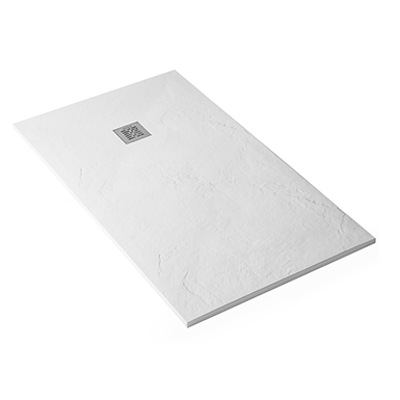 Image for Marina shower tray with schist texture surface