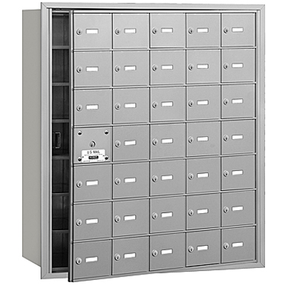 afbeelding voor 3600 Series Recessed Mounted 4B+ Horizontal Mailboxes-Front Loading-7 Door High Units