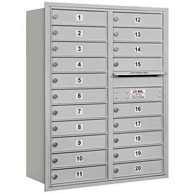 afbeelding voor 3700 Series Recessed Mounted 4C Horizontal Mailboxes - Rear Loading - 11 Door High Units