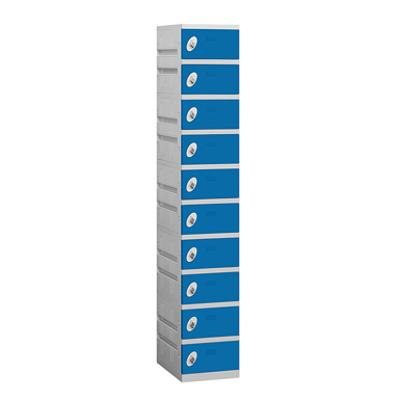 90000 Series Plastic Lockers - Ten Tier - 1 Wide图像