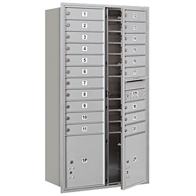 afbeelding voor 3700 Series Recessed Mounted 4C Horizontal Mailboxes - Front Loading - Maximum Height Units