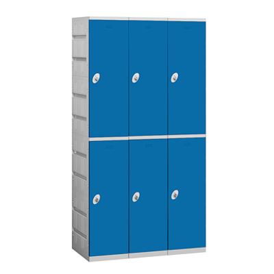 92000 Series Plastic Lockers - Double Tier - 3 Wide图像