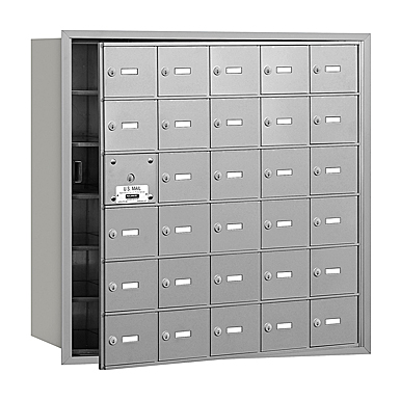 afbeelding voor 3600 Series Recessed Mounted 4B+ Horizontal Mailboxes-Front Loading-6 Door High Units