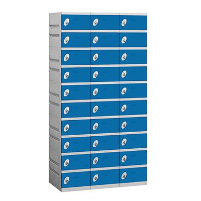 90000 Series Plastic Lockers - Ten Tier - 3 Wide图像