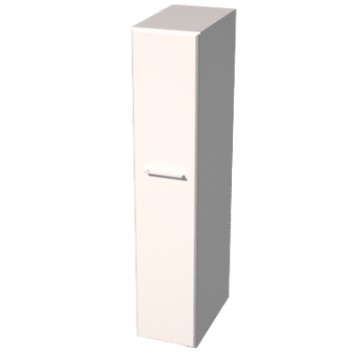 Image pour MIDO TALL UNIT 172,8X35X60 CM MATT WHITE