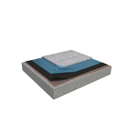 Image for Membrane 5 1-layer inverted roof system for concrete on concrete non-insulated