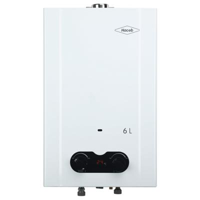 Image for Calentador de agua Bambú 6 litros Haceb de paso a gas natural tiro forzado blanco