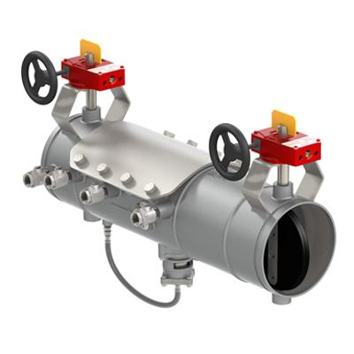 รูปภาพสำหรับ Lightweight Stainless Steel Reduced Pressure Zone Assemblies with Integral Butterfly or OSY Shutoffs - Deringer 40/40G