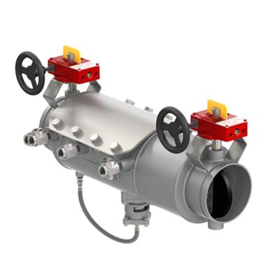 รูปภาพสำหรับ Low Head Loss Stainless Steel Reduced Pressure Zone Assemblies with Integral Butterfly or OSY Shutoff - Deringer 40X/40GX
